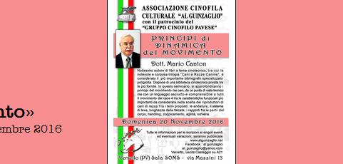 Seminario sui princìpi del movimento – Verretto (PV), 20 novembre 2016